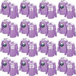 57fe98994 Buffalo Sabres Jersey Purple Fights Cancer Practice 9 Evander Kane 15 Jack  Eichel 28 Zemgus Girgensons 90 Ryan O Reilly Hockey Jerseys