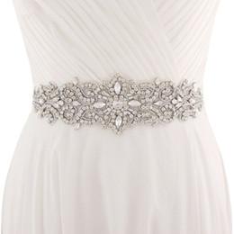 China 2018 Handmade White Ivory Belt For Wedding Dresses Beaded Crystal Wedding Sash Wedding Accessories Rhinestone Bridal Sash CPA1222 cheap bridal wedding dresses white suppliers