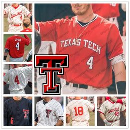 RaideR white online shopping - Texas Tech Red Raiders Grant Little Cameron Warren Josh Jung Zach Rheams College Baseball White Black Cream Jerseys S XL