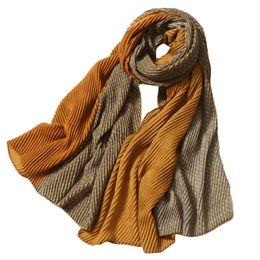 2b264e577237a Fashion Women Two-tone Wave Lattice Long Soft Wrap Scarf Shawl Scarves  Female Male Best Quality Cashmere Women Men Wrap Shawl