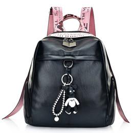 $enCountryForm.capitalKeyWord NZ - Womens Fashion Backpack Zipper Fashion Large Capacity Plecak Hit Letter Shoulder Strap Cartoon Pendant Keychain Gift Backpacks