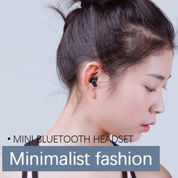 mini micro earpiece 2019 - Single Mini Small Stereo Earbuds wireless Bluetooth earphone with Charging Box Micro MINI Earpiece Bluetooth Headset hea