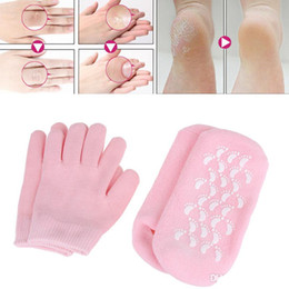 exfoliating socks Australia - Reusable SPA Gel Moisturizing Socks Gloves Whitening Exfoliating Treatment Smooth Beauty Hand Mask Feet Care Silicone Sock Glove