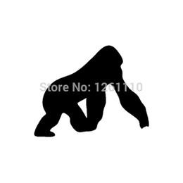 Discount wholesale laptops stickers - HotMeiNi Wholesale 20pcs lot Gorilla vinyl decal BIG Monkey Silverback Car Truck SUV Window Bumper Laptop Tablet sticker