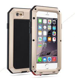 Aluminum Glass Iphone Case Australia - Luxury Doom Armor Shockproof Dropproof Rain-Waterproof Metal Case for IPhone 7 8 7s 8s with Gorilla Glass Aluminum Cover