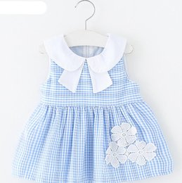 d43ee37d1b01 New Born Baby Girls Infant lattice Dress 2018 Summer Kids Party Birthday  Outfits 0-2 years Shoes Set Christening Gown Baby