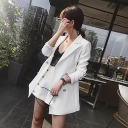 4b590f2dd9a Elegant Office Lady Short Suit Set Women 2 Piece Set White Color Jacket  Blazer +High Waist Mini Pant Suits Female Tracksuit