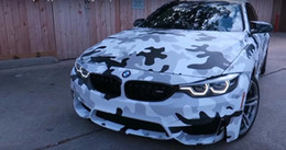 Graphic stickers for cars online shopping - White black Gray Snow Camouflage Camo Vinyl For Car Wrap Stickers Covering Film with air release Vehicle graphic Size x ft ft ft