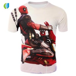 6ffda440 Deadpool T Shirts Canada - 2018brand men's anime deadpool t shirt 3d  printing fashion hip hop