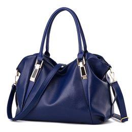 84fb24984aad7 Black leather ladies office Bags online shopping - 2018 New Fashion  Designer Women Handbag Female PU