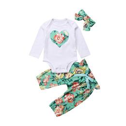 34c8bb13773de 2018 Cute Newborn Baby Girl Floral Clothes Tops Romper Jumpsuit+Long Pants  Leggings+Headband Outfits Set 3PCS 0-24M