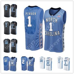 87edd0dcd5a North Carolina Tar Heels  0 Seventh Woods 13 Cameron Johnson 24 Kenny  Williams 32 Luke Maye Blue Black White NCAA Basketball Jerseys S-3XL