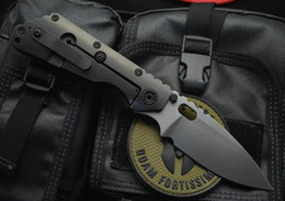 $enCountryForm.capitalKeyWord NZ - Hot sale! Strider Tactical Folding Knife D2 Satin Blade Carbon Fiber + TC4 Titanium Alloy Handle Survival Folding Knives EDC Gear