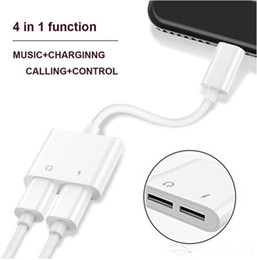 2 in 1 Dual For Lighting to Headphone Audio Charger Adapter Connectors Cable For iPhone 7 8 X Plus For iOS 10.3 11 Charging Music from spying clock suppliers