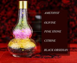 $enCountryForm.capitalKeyWord NZ - DingSheng Natural Colorful Mixed Chakra Stones Amethyst Citrine Obsidian Olivine Gravel Crystal Rose Quartz Tumbled Chips In Calabash Bottle