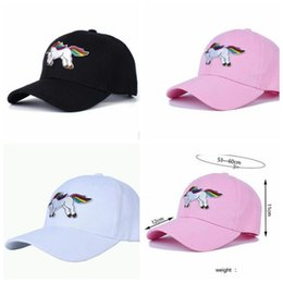 Wholesale adult Unicorn Baseball Cap For Men Women Lovely Snapback Cap Adjustable Embroidered Fashion Casual Hip Hop Sun Hat KKA4429