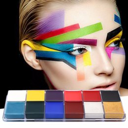 Body Art Face Paint Canada - Professional 1 Set 12 Colors Flash Tattoo Face Body Paint Oil Painting Art Drop Shipping Wholesale