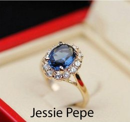 Austrian Crystals Italina Ring NZ - Jessie Pepe Italina Crystal Ring Anel de pedras preciosas with Austrian Crystal Stellux Wholesale Free Shipping C#JP10204Blue