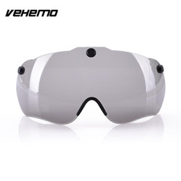 Discount glass lens safety glasses Vehemo new Helmet Lenses Glass Magnet Transparent Motorcycle Bicycle Scooter Riding Safety