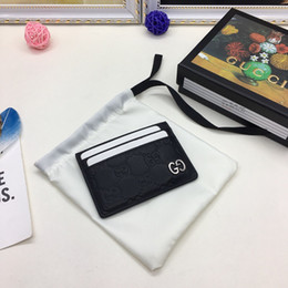 Best Brand leather purses online shopping - best quality designer cardholder with box women brand Genuine Leather square wallet luxury leather purse women Money wallet