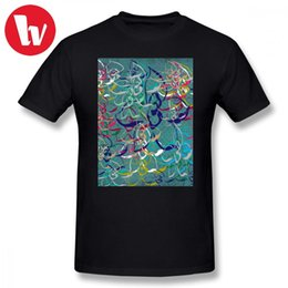 d1725127 Sublimation Tee Shirt Floral Teal D T-shirt Men Colorful Print Funny Tee  Shirt Awesome Male Cotton T Shirts Graphic Tee Shirts