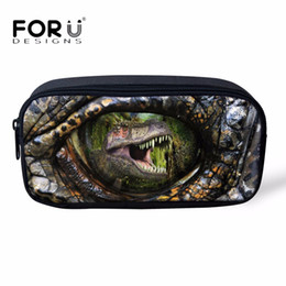 Watermelon Cosmetic Bags Cases Australia - FORUDESIGNS 3D Animal Cool Dinosaur Prints Cosmetic Cases for Kids Pencil Bags Student School Supplies Children Pencil Box Bags