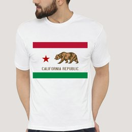 $enCountryForm.capitalKeyWord Australia - California republic t shirt Bear flag short sleeve Street tees Leisure unisex clothing Pure color modal Tshirt