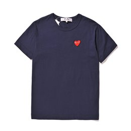 Striped ShirtS for women online shopping - Mens designer t shirts commes OFF With Heart sport tee Shirts des garcons White T Shirt CDG PLAY For Summer man woman vetements