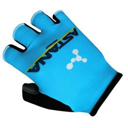Chinese  Hot Sale 2018 Pro Team ASTANA Blue Cycling Gloves GEL High Quality Summer Fingerless MTB Unsix Half Finger Bike Gloves Guantes Ciclismo manufacturers