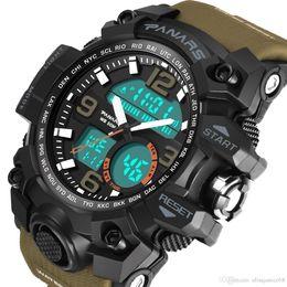 $enCountryForm.capitalKeyWord NZ - Business Male Sport Watch for Men WR50M swimming waterproof Quartz LED Electronic Men's Wristwatch With calendar and Night light