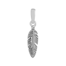 $enCountryForm.capitalKeyWord UK - Fits Charms Bracelets 2018 Summer Spiritual Feather Charm beads Original 925 Sterling Silver Charm DIY Jewelry For Women Making Wholesale