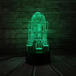 $enCountryForm.capitalKeyWord UK - 3D USB 7 Colors LED Table lamp Warship R2D2 Robot StormTrooper Rocket Model Touch Night Light in Bedroom Decor