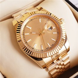 Ship Free Mens Wrist Watches Australia - New Top AAA Luxury Mens Watch All Gold Automatic Watch Stainless Steel original Clasp Mens President Watches Free Shipping 41mm