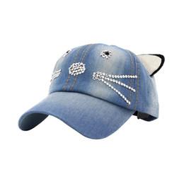 Gorra de béisbol del dril de algodón de los niños de XYKGR casquillo lindo  del oído de la visera del protector solar de la tapa plana de los oídos del  gato 1e76f465b59
