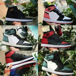 reputable site 98454 48869 2018 nike air jordan 1 shoes air max michael jordans retro New Mid OG 1 top  3 hommes chaussures de basket 1s Homage To Home Banned Bred Chicago Royal  Blue ...