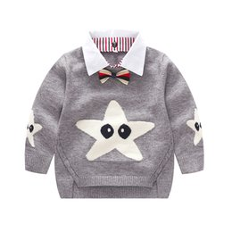 $enCountryForm.capitalKeyWord NZ - Baby Sweaters Boys Long Sleeve High Quality Kintted Sweater Cartoon Star Red Yellow Grey Spring Autumn Baby Clothes