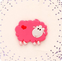 $enCountryForm.capitalKeyWord NZ - Cute pink sheep Fridge Magnets For Kids Decorative Refrigerator Magnets Cheap Small Magnetic Sticker On The Fridge