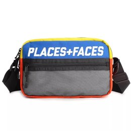 Place box online shopping - Places Faces M Reflective Skateboards Bag P F Message Bags Casual Men And Women Hip hop Shoulder Bag Mini Mobile Phone Packs