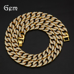 $enCountryForm.capitalKeyWord Canada - Men Gold Color Hip Hop Necklaces Bling Bling Rhinestone 76cm Long Miami Cuban Link Chain Necklace Fashion Jewelry Christmas Gift #HP79