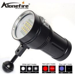 Scuba dive flaShlight online shopping - AloneFire DV49 Professional Diving Light Underwater m Scuba Video Light XM L2 LED Photography Video Dive Flashlight Lamp