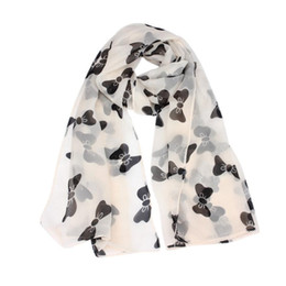 towels prices NZ - Low Price Women Bowknot Scarf Chiffon Scarves ponchos capes beach towel foulard soie bufandas de seda mujer echarpe echarpes