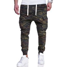 large feet 2018 - DIAOOAID 2018 new hot sale Large size men's fashion camouflage printed tether belt casual feet pants male streetwea