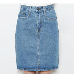 764202e7591 plus size denim skirt 2019 - Harajuku Casual High Waist A-Line Cotton Denim  Skirt