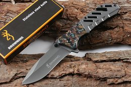Discount browning knives - Browning A339 fast opening (two colors) folding outdoor knives survival camping hunting knife folding knife free shippin