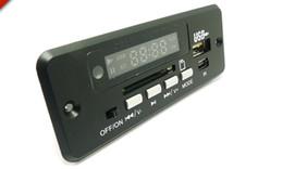 Wholesale Card Shows UK - 5V-12V Universal MP3 decoder board FM radio show Square dance accessories audio conversion