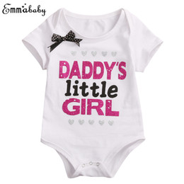 $enCountryForm.capitalKeyWord UK - Newborn Baby Daddy Mommy Girls Bodysuit Short Sleeve Jumpsuit Bow Clothes Black White Outfit Sister Matching Clothing