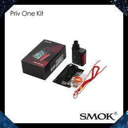 Wholesale SMOK Priv One Kit All in One AIO Design With mah Battery ml Internal Tank Hidden Side Fire Button Leak proof System Original