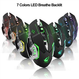 Batteries Usb Mouse Australia - Noiseless Wireless Mouse Optical Mouse Gaming Silent Usb Rechargeable Mice 1800dpi Built-in Battery for PC Laptop Computer Gamer