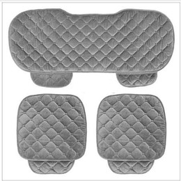 Sets Velvet NZ - 5 Seats Car Seat Covers Set For Front Back Seat Chair Set Women Cute Car seat cushion Soft Silk Velvet