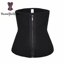 Wholesale Black S Hooks Australia - Zip Up Women Neoprene Waist Trainer 3 Hooks 6 Steel Boned Corset Slimming belly Belt Modeling Strap Waist Cincher Shaper 611#